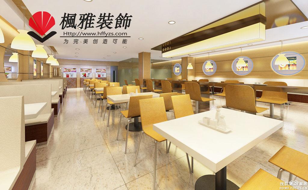 .快餐店装修风格设计时,可以根据店面的平面图区分高清图片