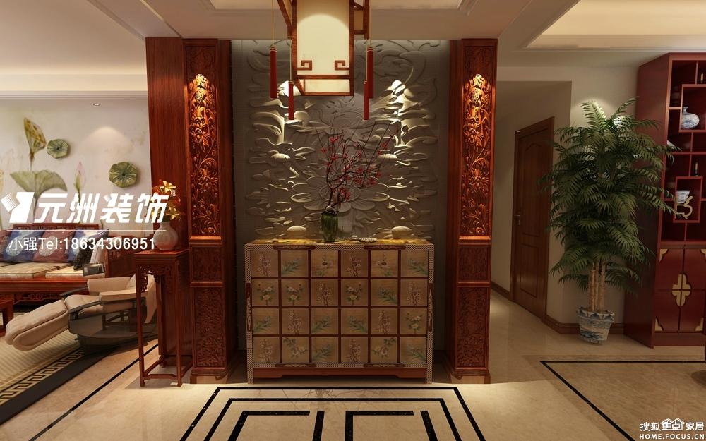 万科紫台147平米中式风格装修设计效果图高清图片
