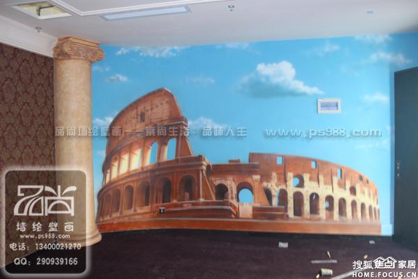苏州主题宾馆手绘苏州主题宾馆墙绘壁画苏州主题宾馆彩绘涂鸦图片