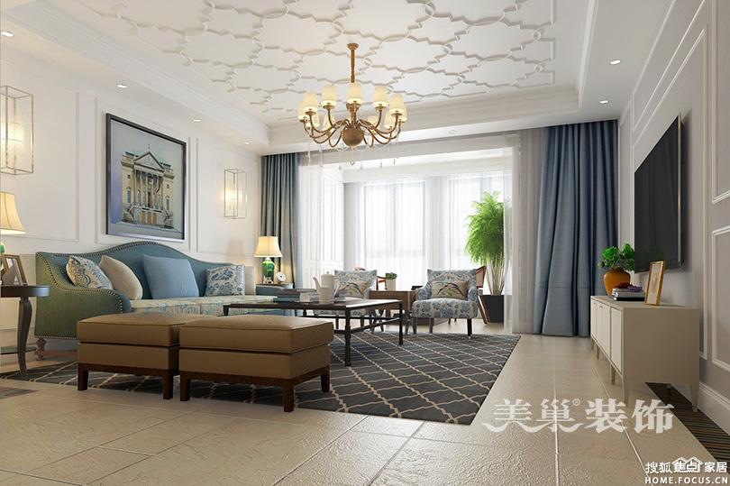 州200平自建别墅简美风格装修效果图案 郑州装修高清图片