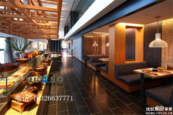 图:合肥自助餐厅装修 餐台设计思路 餐厅空间有效利用
