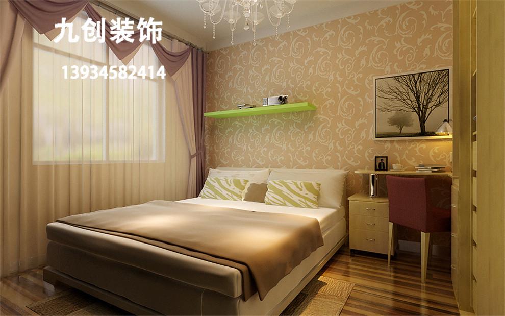 太原装修-新房装修-装修效果图-三千渡-87平米-现代简约-卧室装修效果