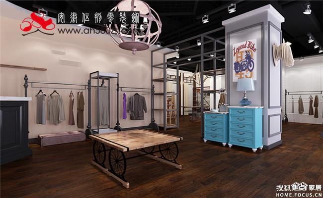 复古风格的服装店装修,让人更有恋旧之感.