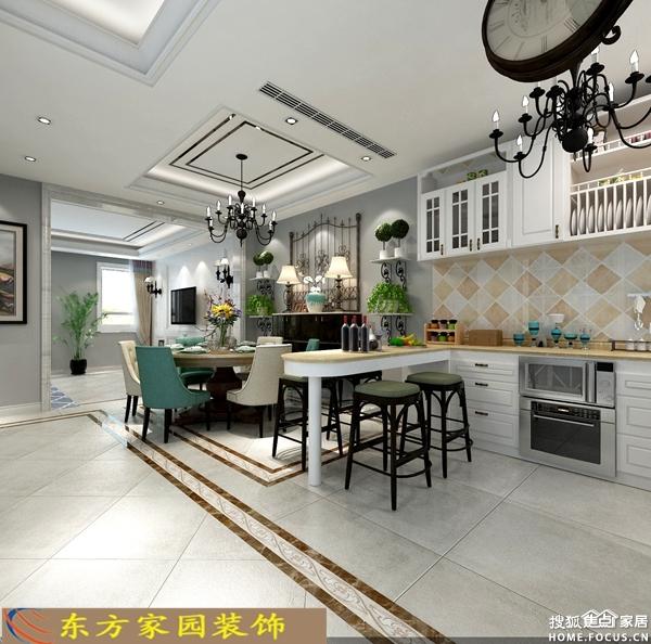 城阳别墅装修效果图范 210平简美风格装修设计效果图 东方家园装饰高清图片