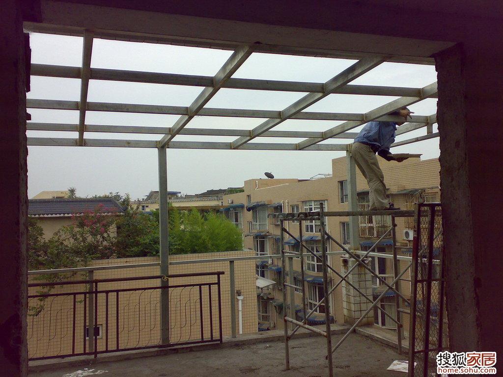 阳光房钢结构焊接图片
