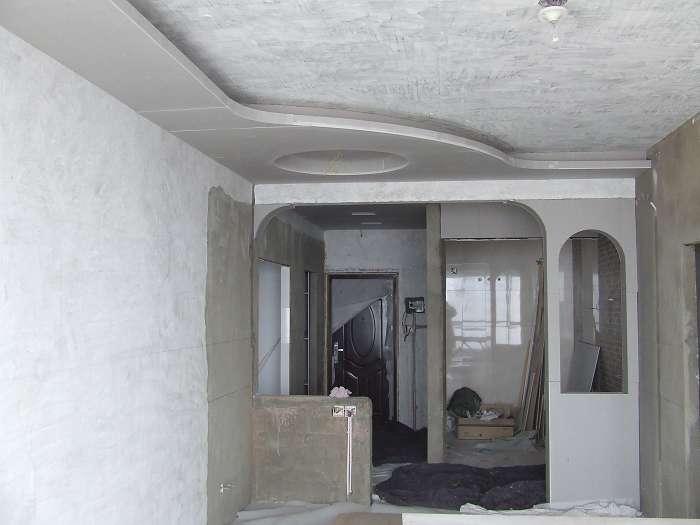 客厅餐厅吊顶分隔