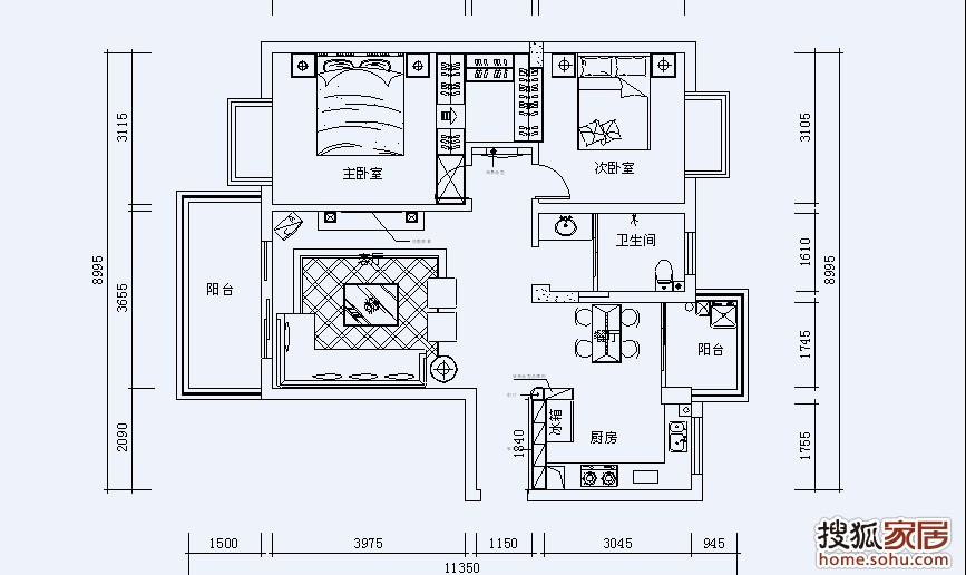平面图   房子建筑面积90左右.实用面积78.   请有实力高清图片
