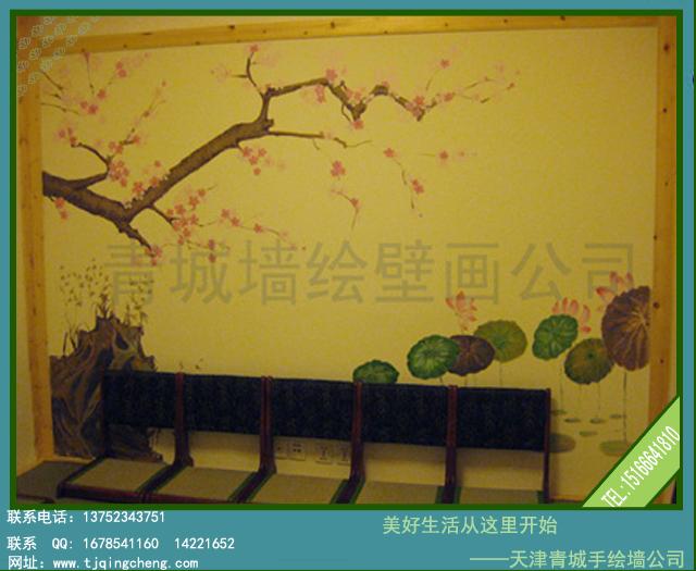 回复:图:新出炉手绘墙——日本料理店