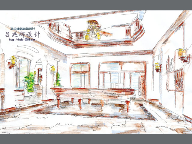 改造设计与室内装饰设计-别墅豪宅-吕延辉设计作品