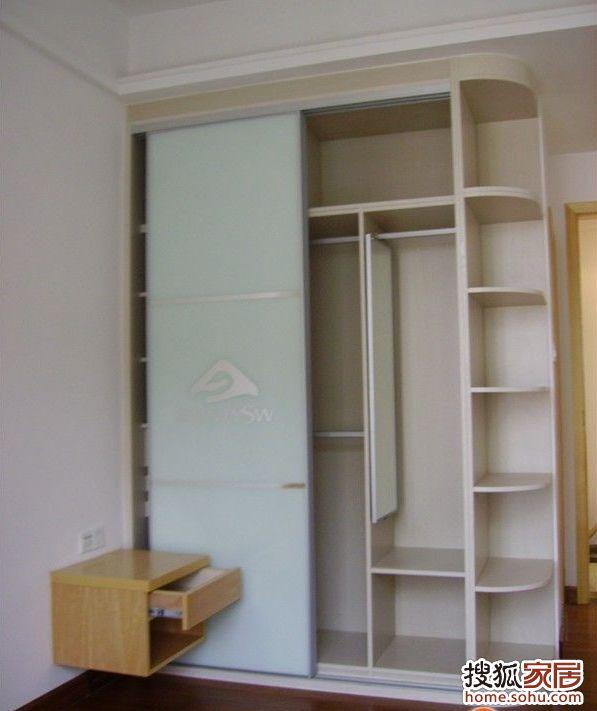 1.9米衣柜带圆角结构图-开放式设计 餐厨一体化