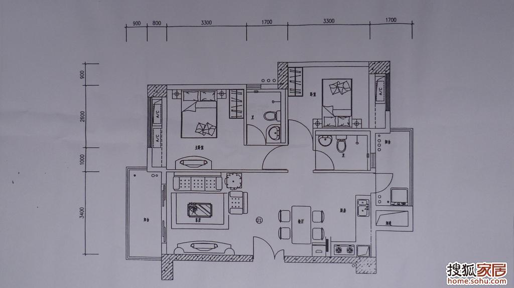 幼儿园卫生间平面图; 回复:图:厨房装修假想
