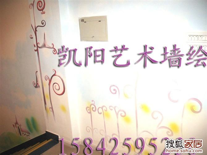 东港英国可爱可亲母婴用品连锁店墙体手绘作品