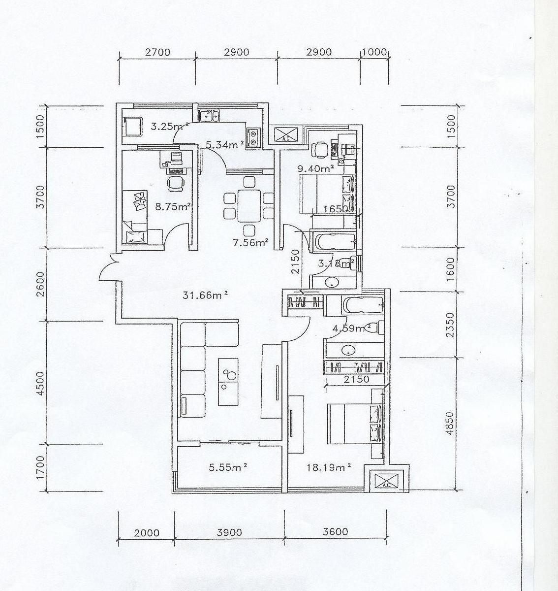 室内设计平面图手绘中式风格
