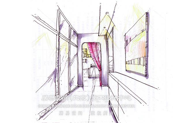 门厅手绘图