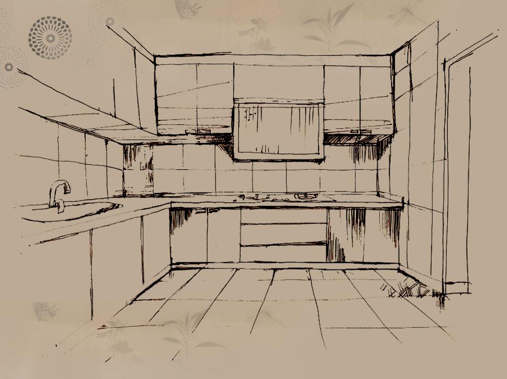现代组合沙发设计手绘图