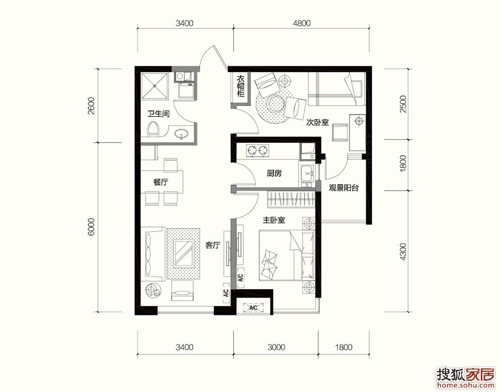 2011搜狐德意杯室内设计大赛户型征集