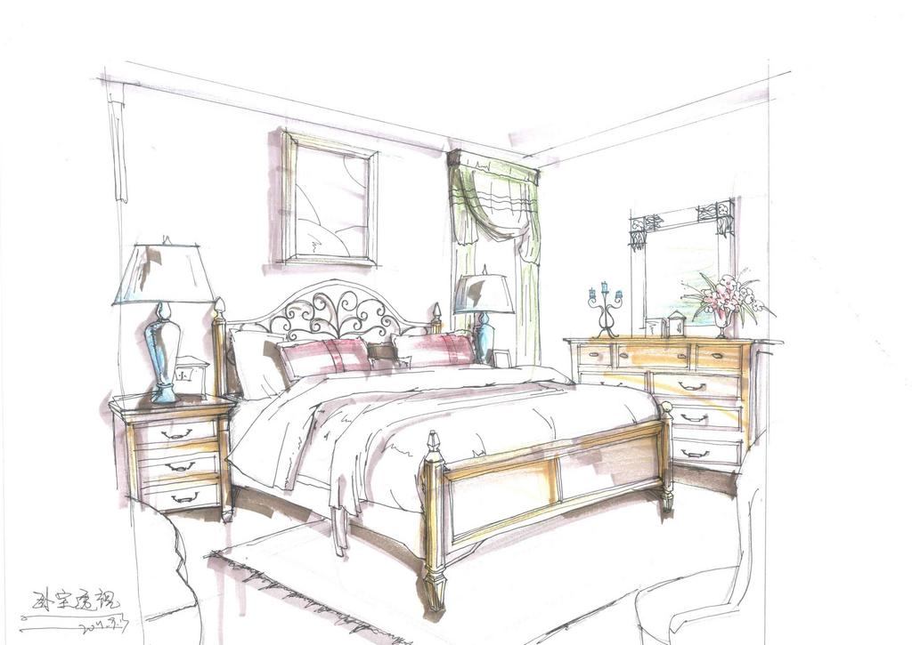 家具 简笔画 手绘