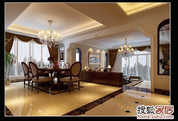 窗套、餐厅木制造型吊顶、石膏板吊顶、顶面石膏顶角线、包高清图片