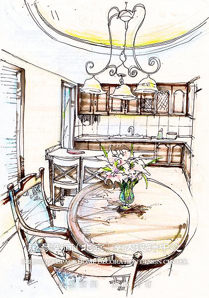 餐厅手绘图
