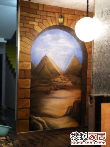 手绘墙 3d立体壁画