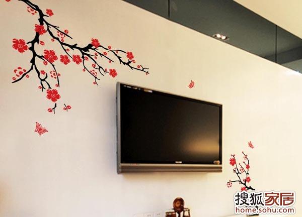 图:不做电视墙 纯手绘背景墙画俘获芳心