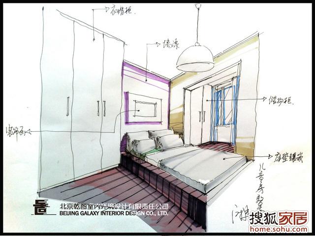 卧室怎么画简笔画步骤