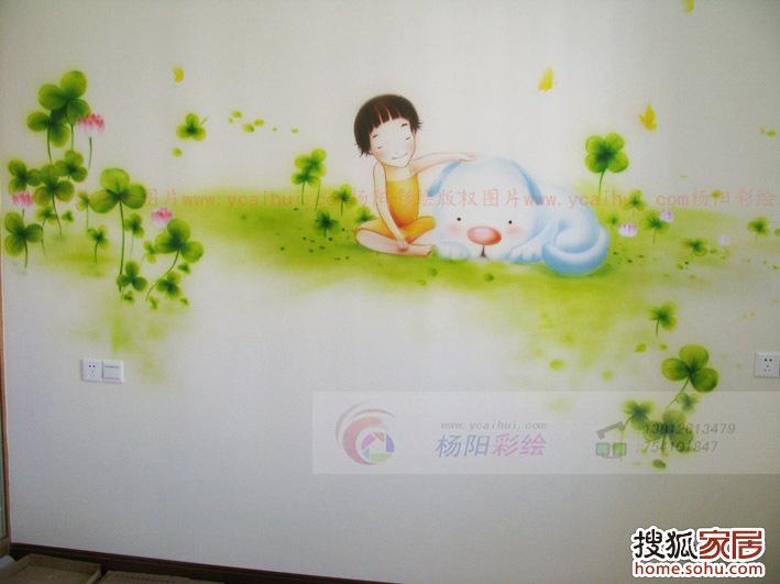 儿童房墙体彩绘2