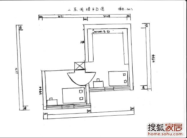 2层阁楼平面图