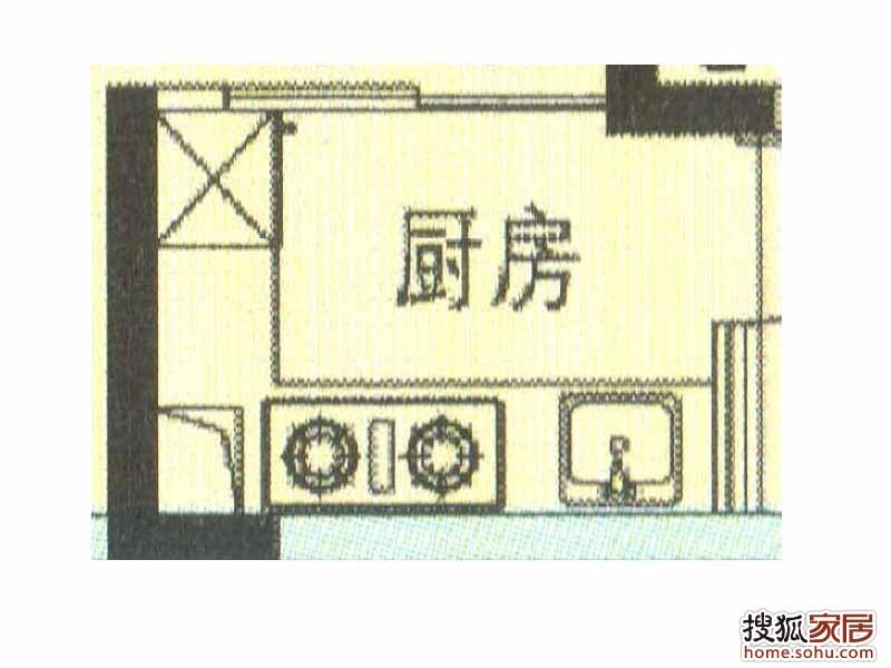 厨房平面图