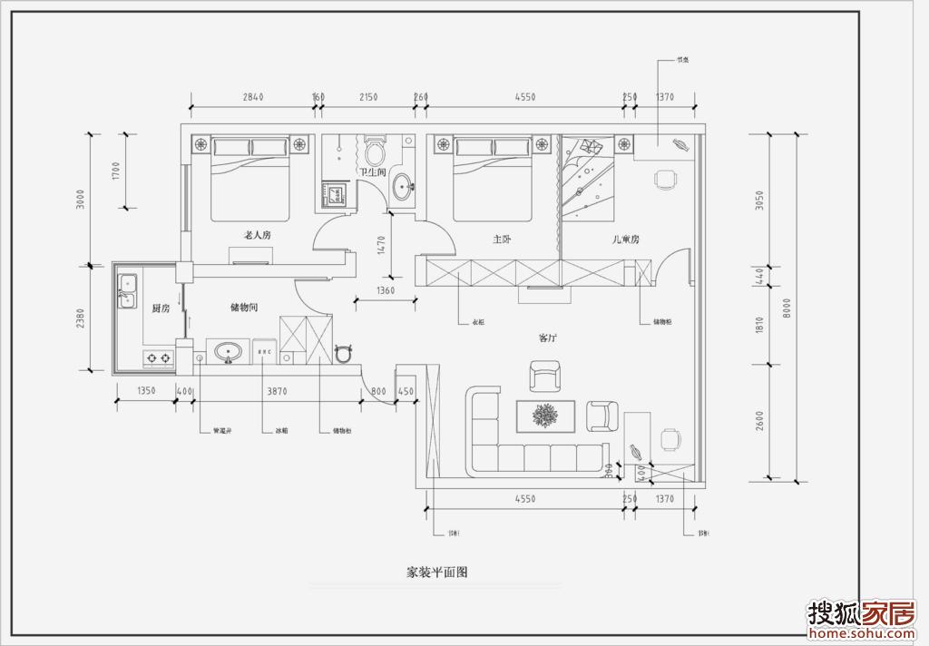 回复:图:家装平面图-武汉装修集采-搜狐家居网