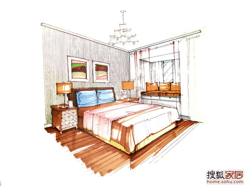 卧室手绘图