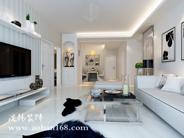 125平米-三房两厅-现代简约风格装修案例效果图-5.7万打造图片