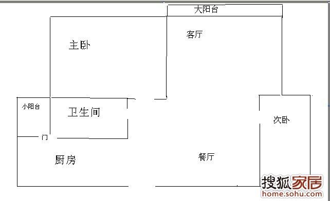 房屋平面图手绘图-请各路装修高手帮忙出出主意 怎样修 苏州装修集采