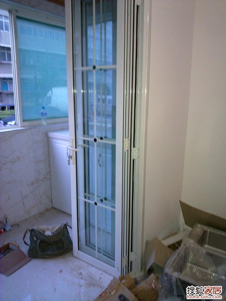 阳台折叠门3-西安装修论坛-搜狐家居网图片