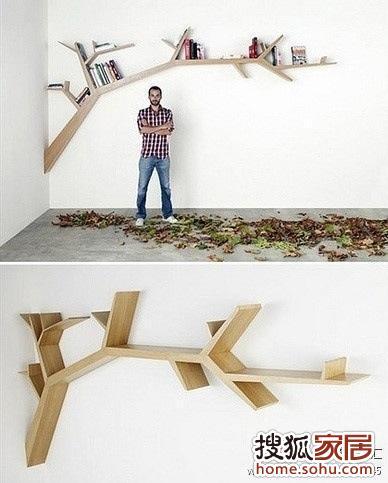 木工悬空书架造型图片
