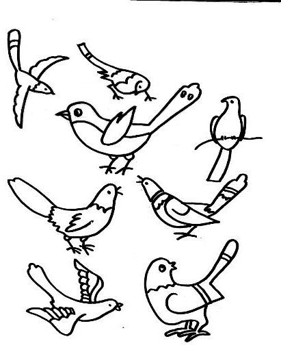 喜鹊简笔画可爱