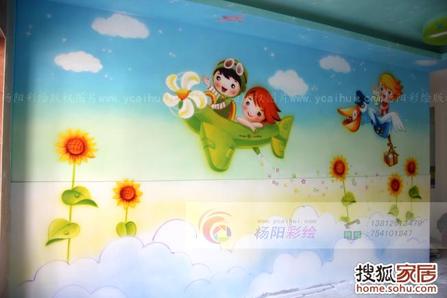 苏州幼儿园手绘墙-幼儿园喷绘3