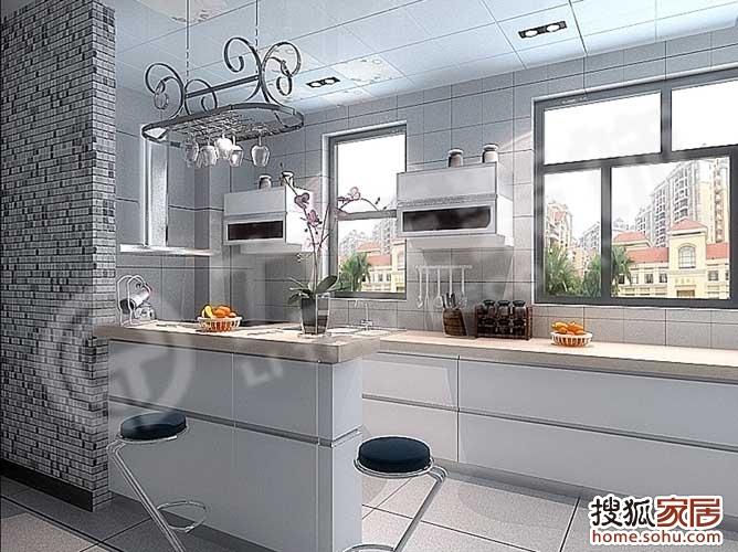 吧台厨房图片