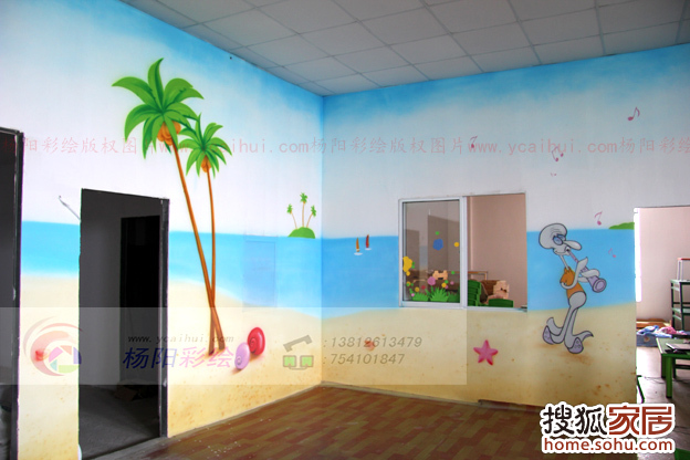 苏州昆山幼儿园手绘墙2