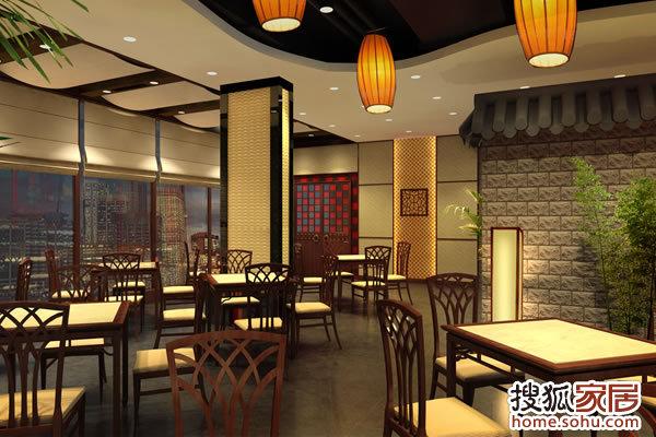 4,餐饮店面装修的色彩处理,对完美店面的造形效果起着图片