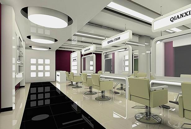 合肥美发店装饰 专业美发店店面装修设计 合肥卓创建筑装饰高清图片