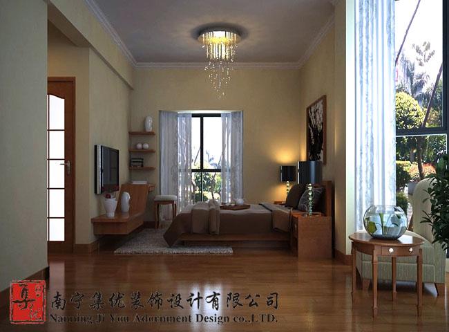 130平4房2厅2卫简约风格效果图 预算7万 南宁装修集采高清图片
