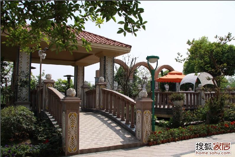 雅居乐花园别墅景观--欧式亭子