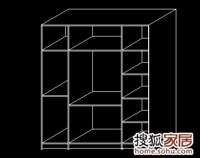实用衣柜内部结构三维图