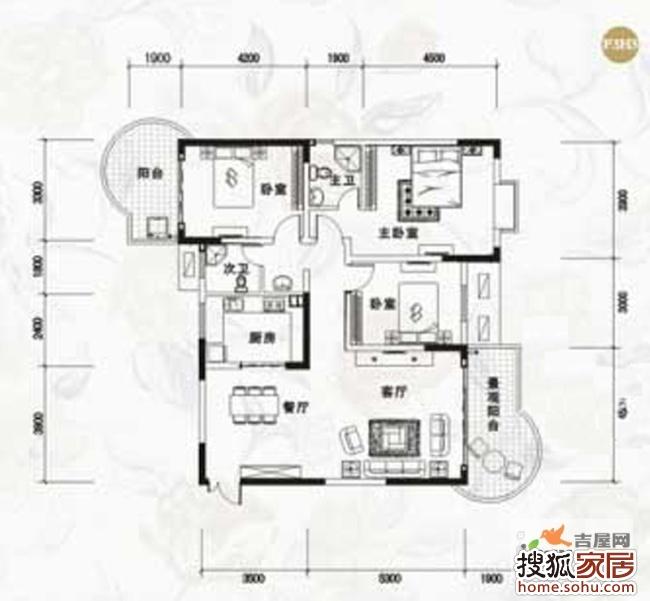 138平方的房子平面图