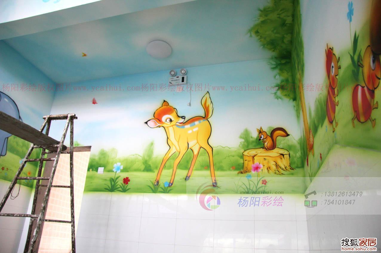 幼儿园内墙彩绘,杨阳彩绘作 苏州墙体彩绘2013年家居最新手绘墙作品