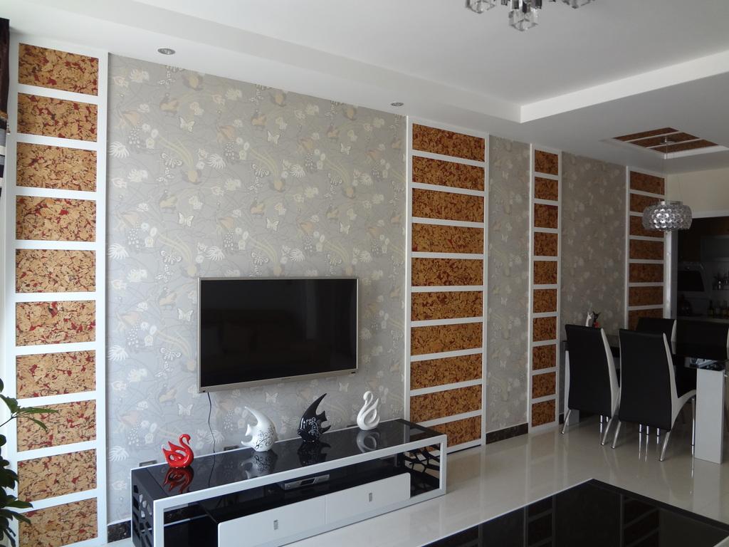 唤之 电视墙,软木与壁纸图片