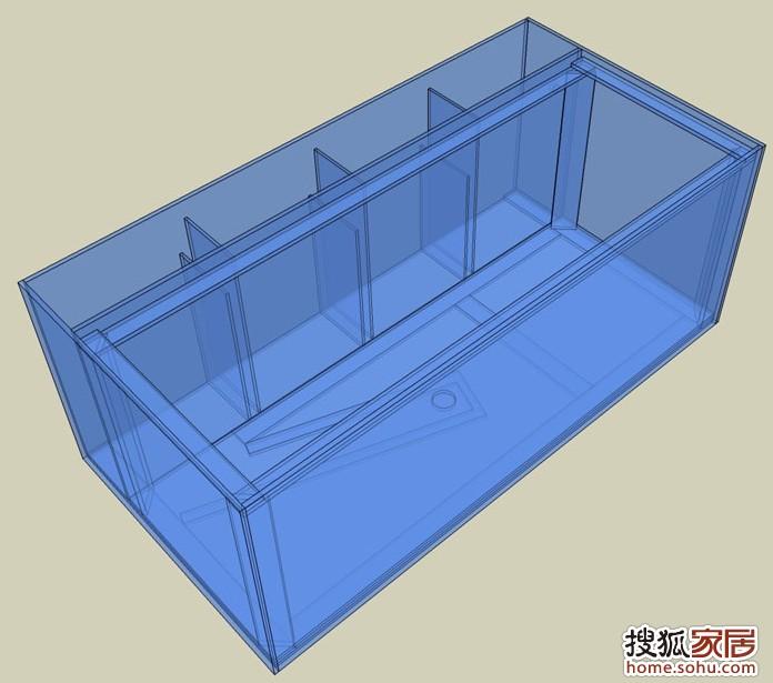 鱼缸地柜设计图