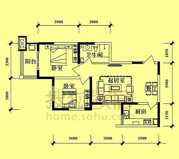 求房子设计图-宽8长11的房子设计图_170平方米房子图