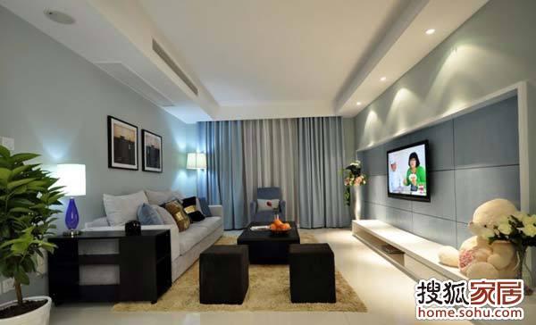 武汉实创装饰打造鼎盛华城90平米两居室简约风格装修设计高清图片
